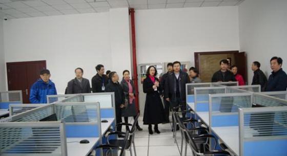 文化部第11评估专家组到隆昌图书馆检查指导