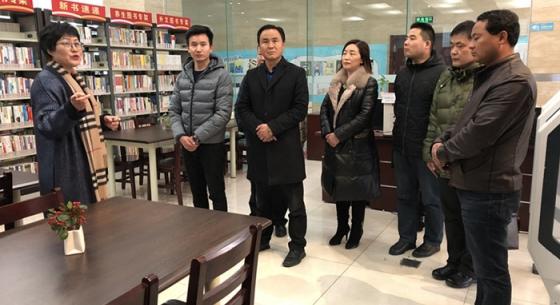 青海循化县文体局一行参观梁溪区图书馆